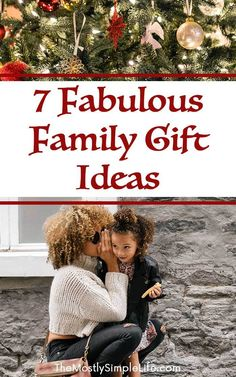 7 Fabulous Family Gift Ideas   Christmas gift guide   Family Christmas present guide   Pin now for Christmastime!