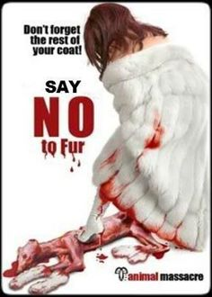 Don't forget the rest of your coat... SAY NO TO FUR!!!