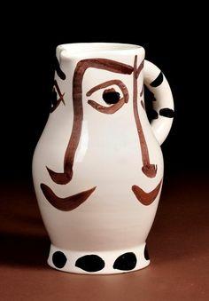 Picasso Madoura Potteries Ceramic Pitcher