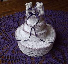 Crochet Patterns - Crochet Baby Patterns - Crochet Wedding/Bridal Patterns - Crochet Box Patterns - Crochet Wedding Cake Trinket Box Pattern