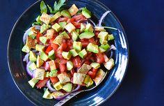 Summery Arugula Salad with Avocado and Tomato #salad