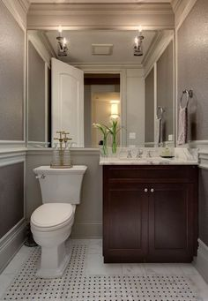 Lincoln park home traditional powder room chicago randy heller