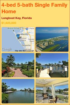 4-bed 5-bath Single Family Home in Longboat Key, Florida ►$1,625,000 #PropertyForSale #RealEstate #Florida http://florida-magic.com/properties/9829-single-family-home-for-sale-in-longboat-key-florida-with-4-bedroom-5-bathroom