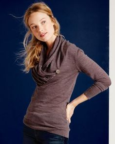 I love the collar on this one... EMU Barmera Pullover Sweater