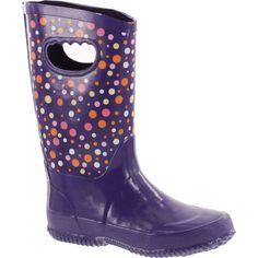 Splash Me Girls Maddie Rain Boots,Purple,4.