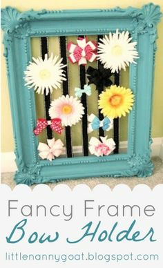Fancy Frame Bow Holder Tutorial by Little Nannygoat