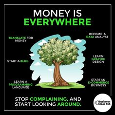 Money management 297519119136305861 - Just a few examples of branches on the money tree 🌳 Earn Money From Home, Way To Make Money, Earn Money Online, Business Ideas For Ladies, Business Tips, Business Money, Financial Literacy, Financial Tips, Memes Gretchen