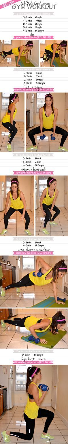 45 Min Full Body Workout! I love this girl her tutorials are so clever and easy!