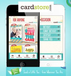 Free Cardstore iPhone App!  See more at ourfrugalfamily.net