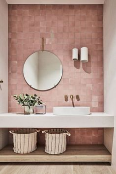 featured projects louise walsh FEATURED PROJECTS Louise WalshYou can find Bathroom interior and more on our website Bad Inspiration, Bathroom Inspiration, Modern Bathroom, Small Bathroom, Bathroom Island, Bathroom Ideas, Master Bathroom, Pink Bathrooms, Bathroom Feature Wall