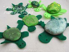 Kitchen Floor Crafts: Foolish Tortoise Painted Rocks