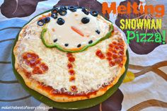 Melted Snowman Pizza