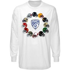 Rep the Pac-12 Conference Helmet Long Sleeve T-Shirt - White  #UltimateTailgate #Fanatics