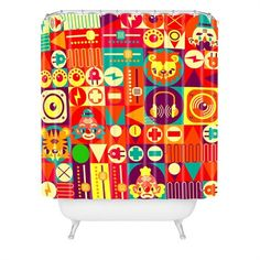 Electro Circus Shower Curtain