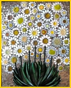 Pretty Diy Mosaic Decorations To Inspire Your Own Garden 21 Pebble Mosaic, Mosaic Art, Mosaic Glass, Mosaic Tiles, Fused Glass, Glass Art, Stained Glass, Tiling, Mosaic Crafts