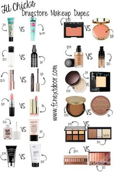 Einfache Swaps von Fit Chick: Drugstore Makeup Dupes – Vol. 2 – Pin-fähig # Einfache Swaps von Fit Chick: Drugstore Makeup Dupes – Vol. 2 – Pin-fähig More from my siteHigh End vs Drugstore Makeup Dupes Dupe Makeup, Makeup 101, Makeup Guide, Makeup Inspo, Makeup Inspiration, Makeup Geek, Vegan Makeup Dupes, 50s Makeup, Makeup Eraser