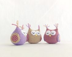 Amigurumi Owl. Handmade crochet soft toy. Unique gift for a boy or girl baby shower. Birthday party decor.