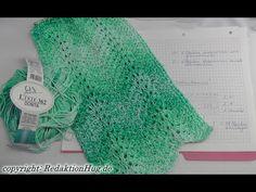 Tunesisch Häkeln - Schal im Muster Wellentraum - Veronika Hug - YouTube