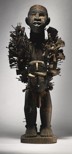 Kongo-Yombe Nail Power Figure, Democratic Republic of the Congo | lot | Sotheby's