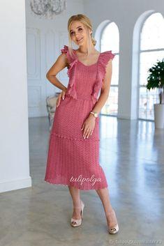 Crochet Blouse, Knit Dress, Dress Skirt, Crochet Top, Crochet Clothes, Crochet Patterns, Mac, Summer Dresses, Knitting