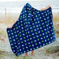 Monogram Girl's and Boy's Hooded Towels, Hooded Beach Towels, Hooded Pool Towels, Children's Hooded Towels