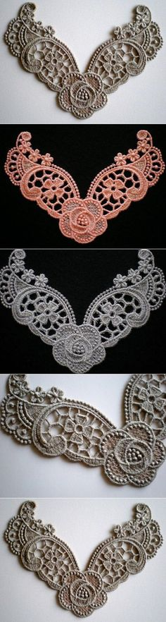 Beautiful Embroidered Lace Applique by ElsieMichelleDesigns