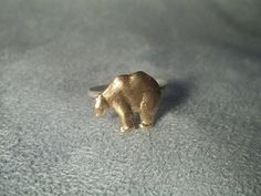Polar Bear Ring Sterling Silver Ring Hammered by fifthheaven, $31.00
