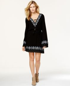 Miss Me Fringed Embroidered Dress
