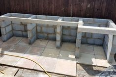 Outdoor Kitchen - Casting Concrete Worktop With Curved Edges : 17 Steps (with Pictures) - Instructables Rustic Outdoor Kitchens, Outdoor Sinks, Build Outdoor Kitchen, Backyard Kitchen, Outdoor Kitchen Design, Backyard Patio, Outdoor Spaces, Outdoor Living, Outdoor Kitchen Countertops