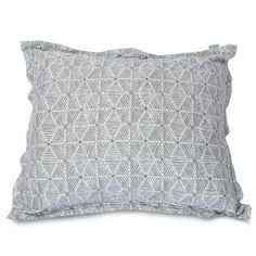 Majestic Home Goods Charlie Floor Pillow Color: Gray