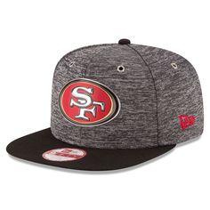 New Era San Francisco 49ers Shadow Tech Original Fit 9FIFTY Snapback Adjustable Hat - Heather Gray