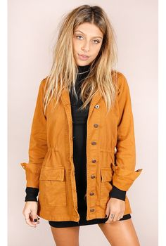 Parka Manhattan Caramelo - fashioncloset