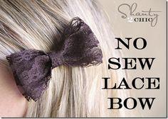 no no sew lace bow
