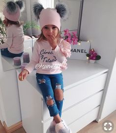 Our baby boy clothes & baby clothes are super cute. Cute Little Girls Outfits, Kids Outfits Girls, Dresses Kids Girl, Toddler Girl Outfits, Cute Kids Fashion, Little Girl Fashion, Toddler Fashion, Outfits Niños, Toddler Girl Style