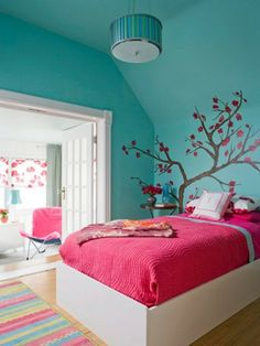 D co chambre ado murs en couleurs fra ches en 34 id es for Couleur de peinture pour chambre ado fille