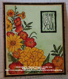 """Handcrafted by Virginia """"Wirg""""  Hampson Stamp Out Your Art With Virginia! © Stampin'Up! Demo # 4008839 Online store: http://stampoutyourartwithvirginia.stampinup.net/ Blog: http://www.stampinup.net/esuite/home/stampoutyourartwithvirginia/blog"""