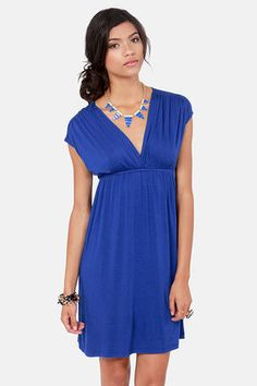 cute blue dresses | Cute Royal Blue Dress - Short Sleeve Dress - $31.00 on imgfave