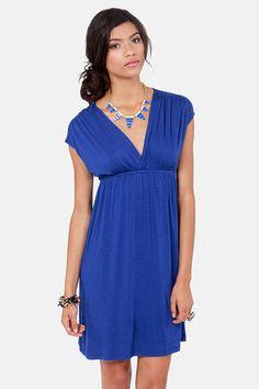 cute blue dresses | Cute Royal Blue Dress - Short Sleeve Dress - $31.00 on imgfave