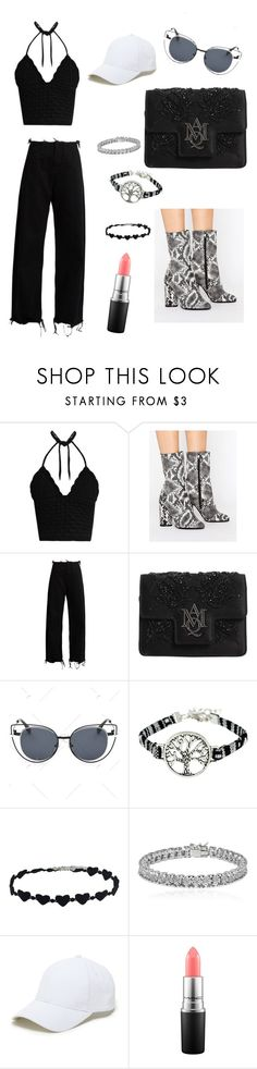 """#look 68"" by tiphaineeeee ❤ liked on Polyvore featuring RED Valentino, Public Desire, Marques'Almeida, Alexander McQueen, Apples & Figs, Sole Society and MAC Cosmetics"