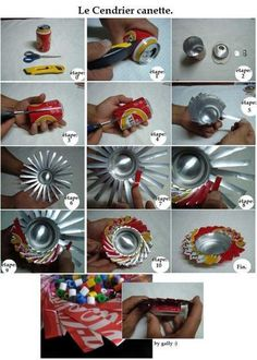 Récup Canettes - Cendrier ou vide-poche
