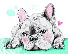 If you were on the fence about getting a puppy for a pet, this artwork just convinced you to get one. Getting A Puppy, Dog Names, Little Dogs, French Bulldog, Cute Animals, Pet Art, Puppies, Pets, Bulldogs