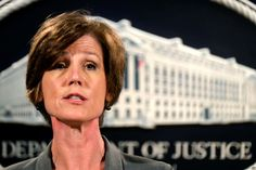 Sally Yates fired by Trump after acting US attorney general defied travel ban White House says Obama appointee 'betrayed' justice department with letter instructing officials not to enforce president's executive order Us Attorney, Attorney General, Donald Trump Fired, Trump Immigration, Justiz, Federal Prison, And So It Begins, National Security Advisor, Department Of Justice