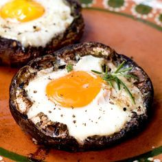 Portobello mushrooms are delicious and easy to stuff with almost anything. This breakfast is fast and easy to make and will keep you satisfied for a while.