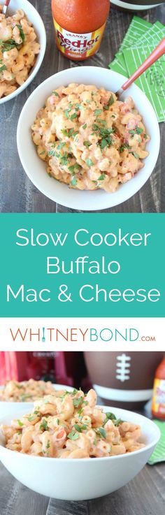 Buffalo sauce, spicy cheddar cheese, tomatoes & green chilies add a kick of spice & flavor to this super easy vegetarian Crock Pot Mac and Cheese recipe!