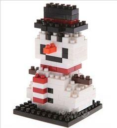 """NanoBlock 150 Pieces """"Snowman"""" / Maneki Neko"""