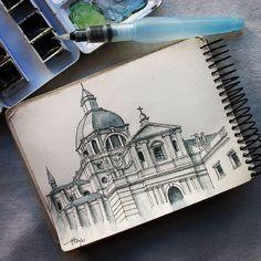 Catedral de la Almudena, Madrid. #sketch #sketchmarker #sketchbook #madrid #boceto #urbansketch #catedraldelaalmudena #acuarela #watercolor