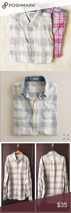 J. Crew | Madras button-down shirt This lightweight men's button-down is in excellent condition--no holes, stains, or visible signs of wear. No trades or PayPal. J. Crew Shirts Casual Button Down Shirts