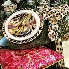 Roberto Cavalli Dishes ! Available at our store!