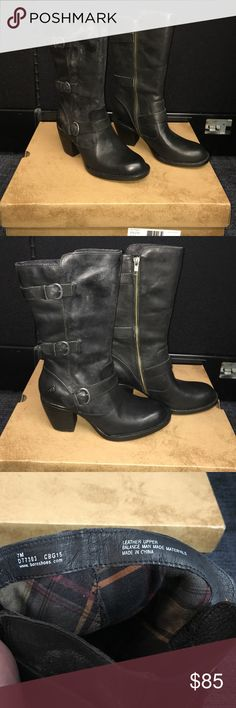 Brand New Born Boots size 7 Brand new born boots in original packaging size 7. Color is Black. Style name is Maleri. Never worn. Born Shoes Heeled Boots