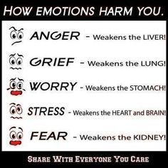 I had no clue your kidneys could be weakened by emotions, especially fear.